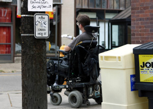 Wheelchair pedestrian