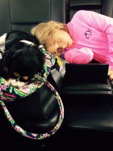 Kate and Linky sleeping
